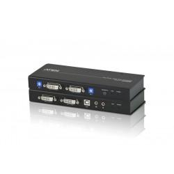 Aten CE604 DVI Dual View KVM Extender