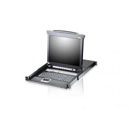 ATEN CL5716N 8-Port PS/2-USB VGA 19-inch LCD KVM Switch