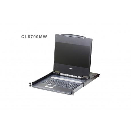 ATEN CL6700MW USB DVI WideScreen Full HD LCD Console