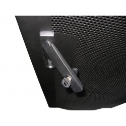 Lockable Perforated Door allows viewing of rack equipments without unauthorized opening the doors.