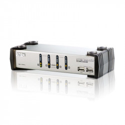 Aten CS1734A 4-Port PS2 USB VGA Audio KVMP Switch