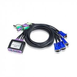 Aten CS64A 4-Port PS2 VGA Audio Cable KVM Switch | 1.8m