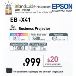 Epson EB-X41 Projector XGA 3600 ANSI [Discontinued]